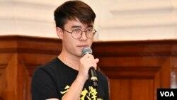 香港大學學生會署理會長黃程鋒認為校長張翔不理解學生。(美國之音湯惠芸)