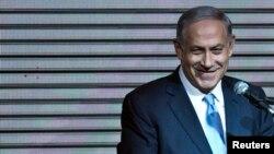 """En una entrevista con la televisión estadounidense, Netanyahu dijo estar comprometido con un Estado palestino """"pacífico""""."""