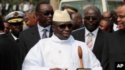 FILE - Gambian President Yahya Jammeh
