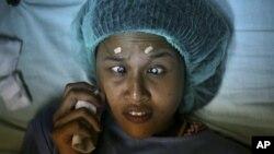 Một bệnh nhân bị cườm mắt