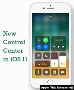 New Control Center in iOS 11