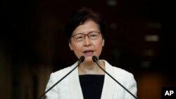 Đặc khu trưởng Hong Kong Carrie Lam phát biểu hôm 3/9/2019.