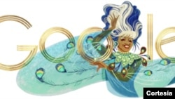 Celia Cruz engalana Google en el día de su cumpleaños.