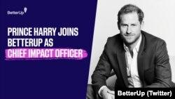 BetterUp menyambut Pangeran Harry, The Duke of Sussex yang bergabung dengan perusahaan itu dan menjabat sebagai Chief Impact Officer. (Foto: Twitter/@BetterUp)