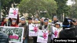 Người Việt ở Hà Nội tưởng niệm chiến tranh biên giới 1979 năm 2016.