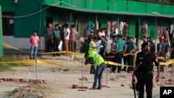 ڈھاکہ میں خودکش حملے کے بعد کامنظر۔ 17 مارچ 2017