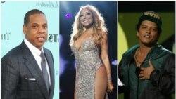 Top Ten Americano: Mariah Carey cancelou digressão; Jay Z, Kendrick Lamar e Bruno Mars lideram nomeações aos Grammy