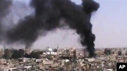 Хомс, Сирия (кадры любительской съемки)