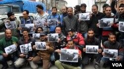 پولیس تشدد کے خلاف صحافیوں کا احتجاج