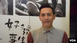 香港立法會選舉飲食界功能組別候選人伍永德 (VOA 湯惠芸攝)