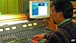 An engineer in a VOA studio.