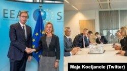 Federica Mogherini sastala se prvo odvojeno sa predsednicima Srbije i Kosova