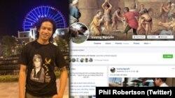 """Nguyễn Quốc Đức Vượng vừa bị kết án 8 năm tù vì tội """"tuyên truyền chống nhà nước"""" theo điều 117 Bộ Luật Hình sự Việt Nam. (Twitter Phil Robertson)"""