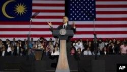 Shugaba Obama a Malaysia.