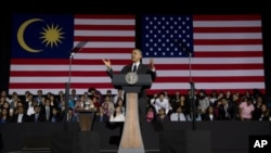 Tổng thống Hoa Kỳ Barak trong một buổi nói chuyện tại Kuala Lumpur, Malaysia