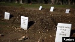 قبرستان در جزیره لسبوس، یونان