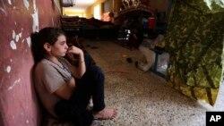 지난 10월 이슬람 무장단체 ISIL의 공격을 피해 이라크 북서부로 피신한 야지디족 여성. (자료사진)