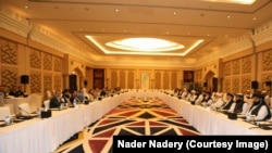 Delegasi Pemerintah Afghanistan dan Taliban bernegosiasi di Doha, Qatar, 2 Desember 2020.
