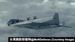 中国空军运八反潜机。(台湾国防部推特)