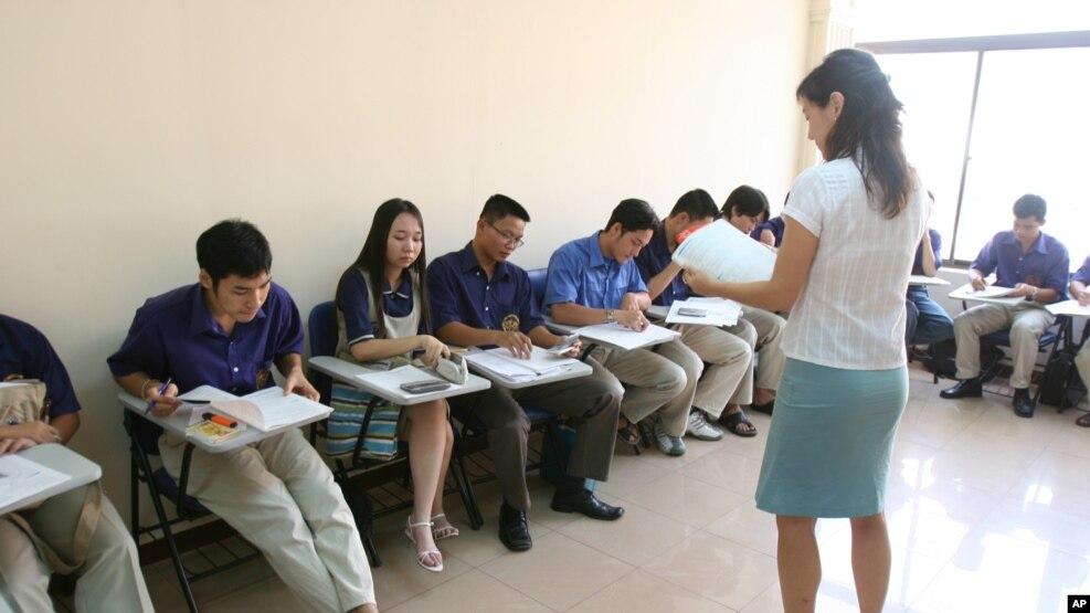 Sinh viên trong một lớp học ở thành phố Hồ Chí Minh. (Ảnh minh họa)