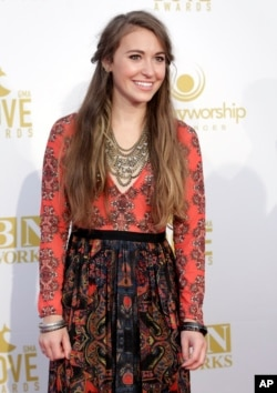 Lauren Daigle appears at the 46th Annual GMA Dove Awards at Lipscomb University, October 13, 2015 in Nashville, Tenn.