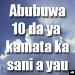 Abubuwa 10 da ya kamata ka sani a yau: Laraba, 18 Mayu 2011