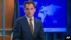 Phó phát ngôn viên Bộ Ngoại giao Mỹ Robert Palladino tại cuộc họp báo ở Bộ Ngoại giao ngày 7/2/2019.