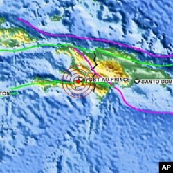 Location of Haiti earthquake, 12 Jan 2010