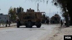 Serangan bom bunuh diri di Jalalabad, ibukota propinsi Nangarhar timur, Jumat (10/4).