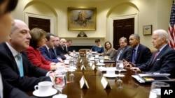 Встреча президента с США с грузинской делегацией в Белом доме 24 февраля, 2014 г.