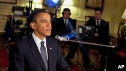 US President Barack Obama delivers the weekly address, 27 Mar 2010
