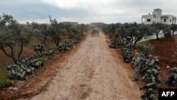 نیروهای ارتش ترکیه در روستایی در ادلب - آرشیو