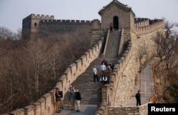 Otro aspecto de la Gran Muralla China.