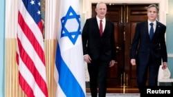 Antony Blinken meets with Israel's Defense Minister Benny Gantz