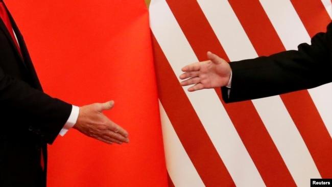Lãnh đạo Trung Quốc và Hoa Kỳ gặp nhau tại Bắc Kinh vào tháng 11/2017.