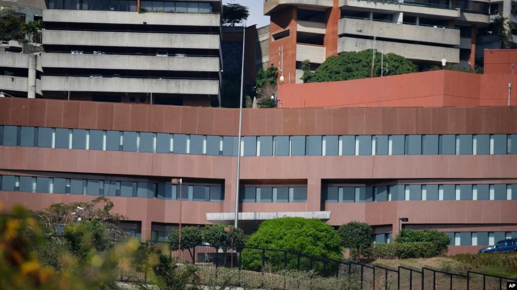 Tòa đại sứ Mỹ không treo quốc kỳ ở Caracas, Venezuela, 14/3/2019
