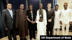 U.S. Assistant Secretary of State for African Affairs Linda Thomas-Greenfield and members of the Committee.