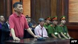 Ông Michael Nguyễn trong phiên toà xét xử tại Việt Nam vào ngày 24/5/2019.