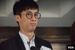 香港青年新政前立法會議員梁頌恆。(美國之音湯惠芸)