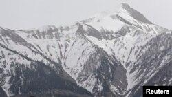 Eneo lililotokea ajali ya ndege ya Germanwings kwenye milima ya French Alps, Machi 24, 2015.