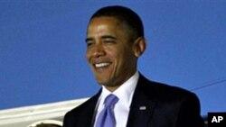 G20 참석을 위해 서울에 도착한 바락 오바마 미 대통령