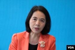 台北市副市長周麗芳(美國之音楊明拍攝)