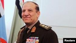 L'ancien chef d'état-major de l'armée égyptienne, Sami Anan, lors d'une réunion au Caire, Egypte, le 29 mars 2011.