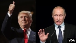 Президент США Дональд Трамп. Президент России Владимир Путин (архивное фото)