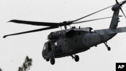 Helikopter militer Meksiko di Mexico City. (Foto: Ilustrasi)