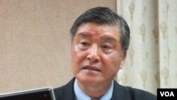 台湾国防部长高华柱(美国之音 张永泰拍摄)
