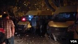 აფეთქების შემდეგ, სამარშუტო მიკროავტობუსის ორი მძღოლი დაიჭრა