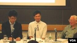 右起哥倫比亞大學商學院教授休斯, 國井淳 樂高雅時尚品牌公司創辦人