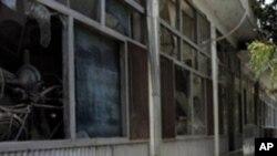 파괴된 칸다하르 시장 집무실