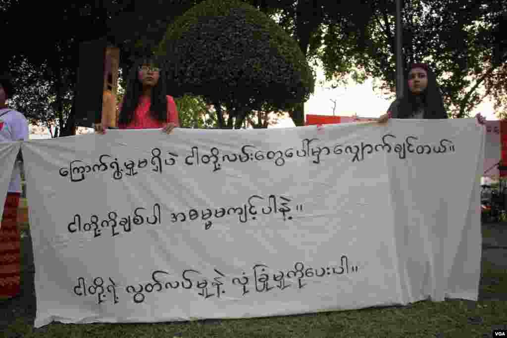 Yangon Myanmar The International Women's day 2018